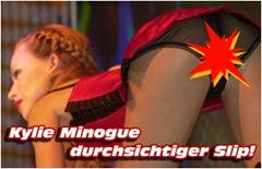 Kylie Minogue durchsichtiger slip